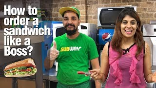 How to order a SUBWAY Sandwich 🌮like a Boss? Learn English Vocabulary & Expressions  With Niharika