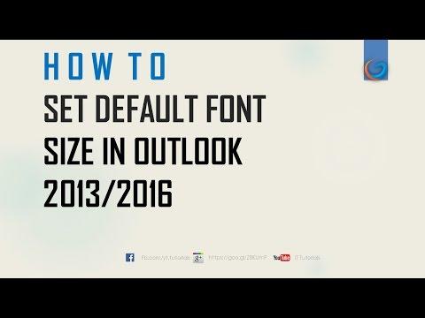 Change default font in outlook
