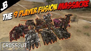 MEGA HOVER FUSION With Gromek999 and a 20+ player free for all - Crossout Gameplay