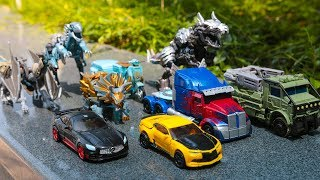 Transformers 5 (2017) The Last Knight Autobots Dinobots Vehicles Dinosaurs Dragon Car Robot Toys