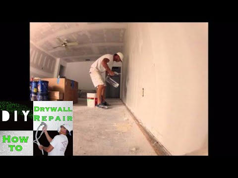 Skim Coating After Wallpaper Removal - Time Lapse Video