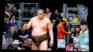 SUMO - Debut of Okinoumi from Shimane