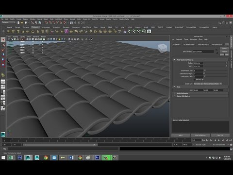 Maya tutorial : Modeling Roof tiles and Shingles