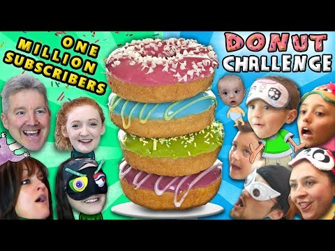 1 MILLION SUBSCRIBERS! FUNnel V Gets Fit + Donut Challenge Family Battle Taste Test Game