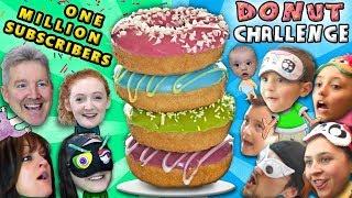 1 MILLION SUBSCRIBERS! FUNnel V Gets Fit + Donut Challenge Family Battle Taste Test Game