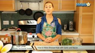 How To Make Braised Kale With Garlic And Bacon