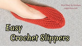 Easy Crochet Slippers Tutorial (Heklane popke)