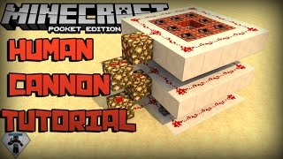 (0.13.0+) Redstone Human Cannon Tutorial | Minecraft Pocket Edition