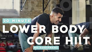 20 MINUTE LOWER BODY & CORE HIIT WORKOUT || PMA FITNESS |