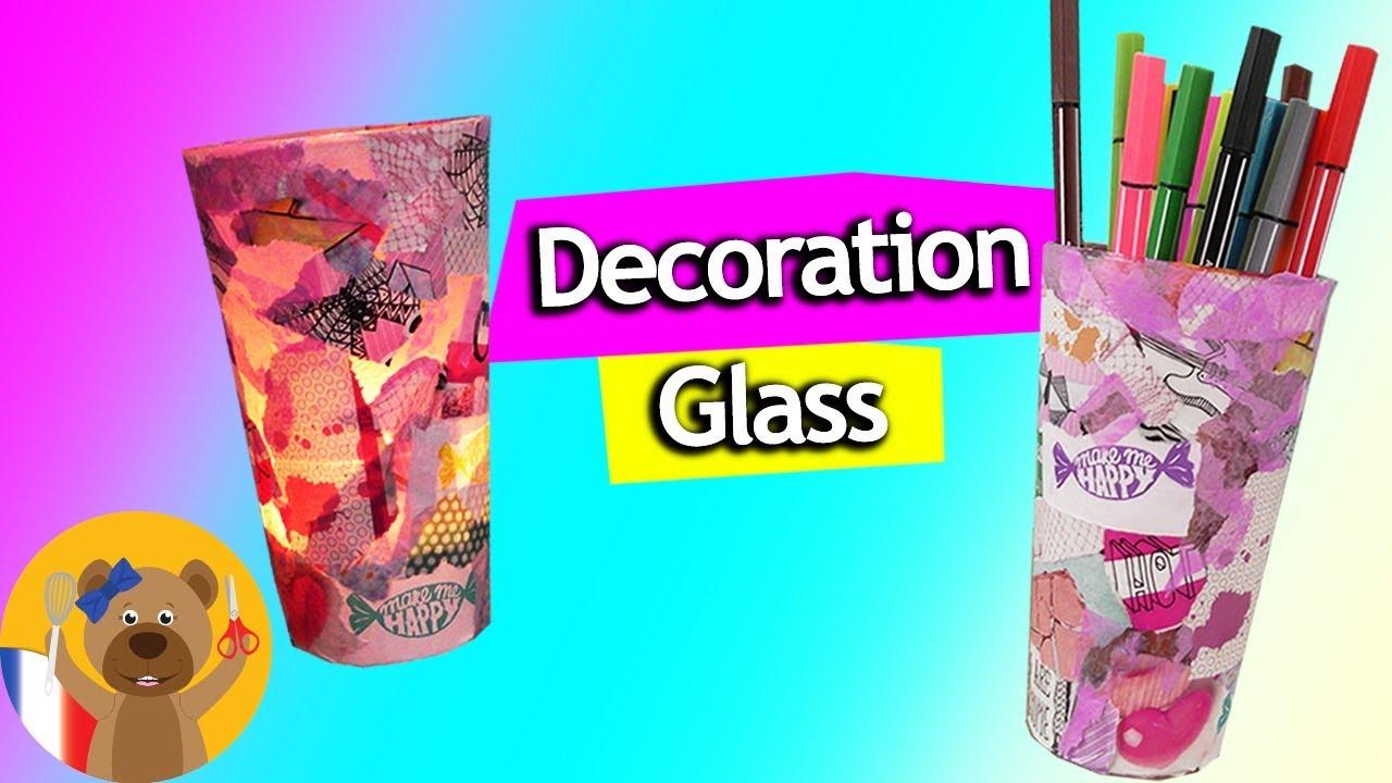 1 Euro DIY Idée à faire soi-même | Cadeau & Déco Idée de rangement en verre  pour le bureau