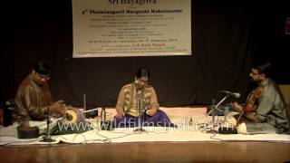 Young carnatic vocalist at Lok Kala Manch