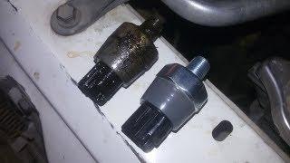 Замена датчика давления масла Toyota vitz