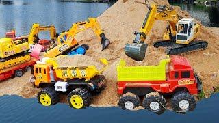Excavator, Dump truck toys for Bruder and Transportation car Construction Vehicles Toys For Kids