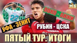 СПАРТАК даст бой в Питере. ЦСКА в порядке. Итоги 5-го тура