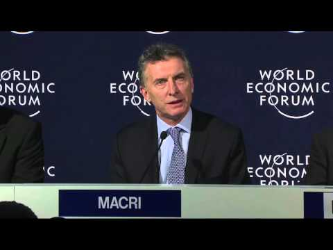 Mauricio Macri Press Conference - Davos 2016