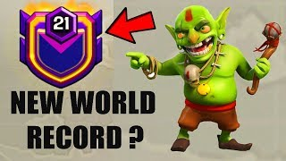 (HINDI) NEW WORLD RECORD!! - Clash Of Clans - WORLDS FIRST LEVEL 21 CLAN!