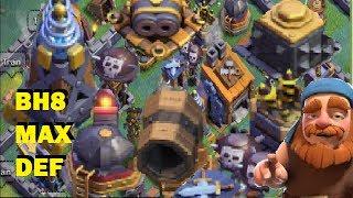 Builder Hall LEVEL 8  MAX!! UPGRADING DEFENSE