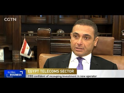 """Telecom Egypt CEO Eng. Ahmed El Beheiry Exclusive Interview with """"CGTN Africa"""""""