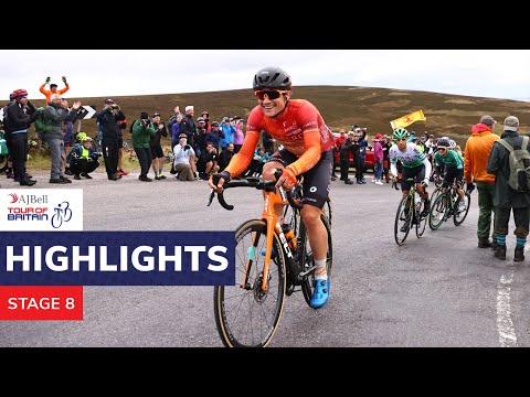 AJ Bell Tour of Britain   2021 stage eight highlights   Stonehaven to Aberdeen