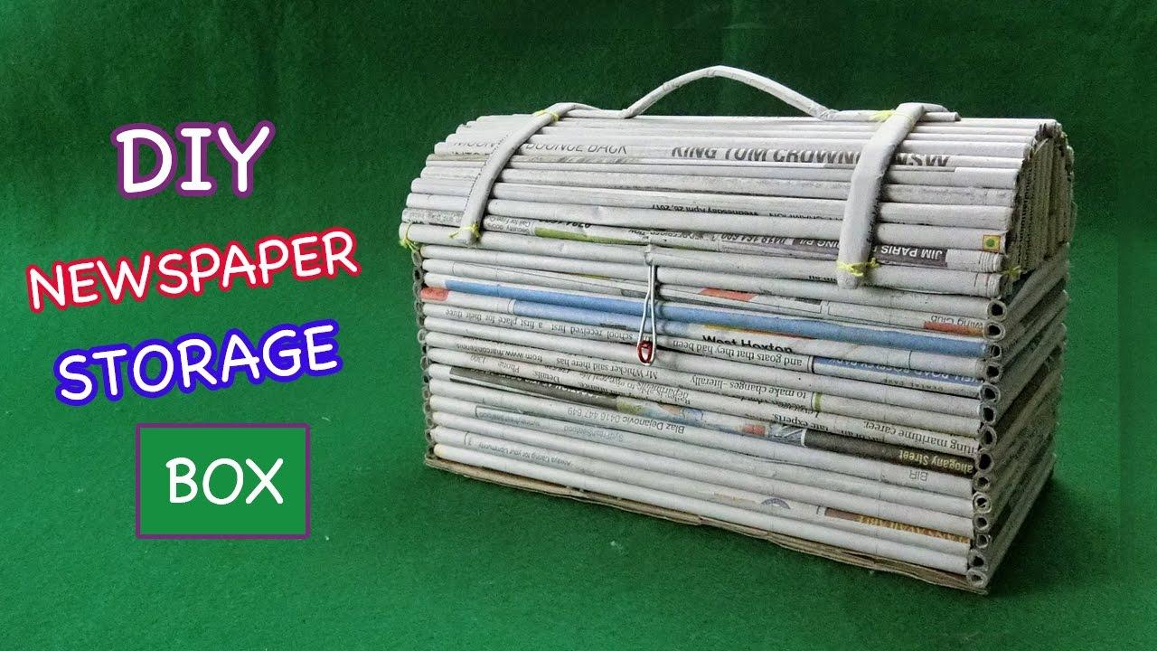 Merveilleux Newspaper Crafts | How To Make Storage Box From Newspaper U0026 Cardboard