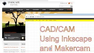 cad cam using inkscape and makercam