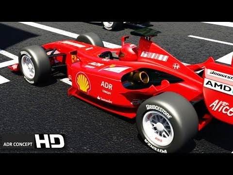 VFX F1 grand prix - modeling formula one - CGI 3D animated short film 3ds Max - video animation 4D