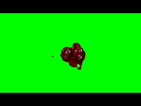 Blood Drips (3 angles) 1080p Green Screen