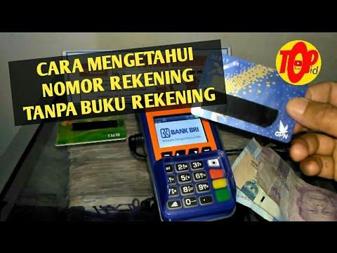 Cara Mengetahui Nomor Rekening Hanya Dengan KARTU ATM Dengan Mesin EDC Agen Brilink