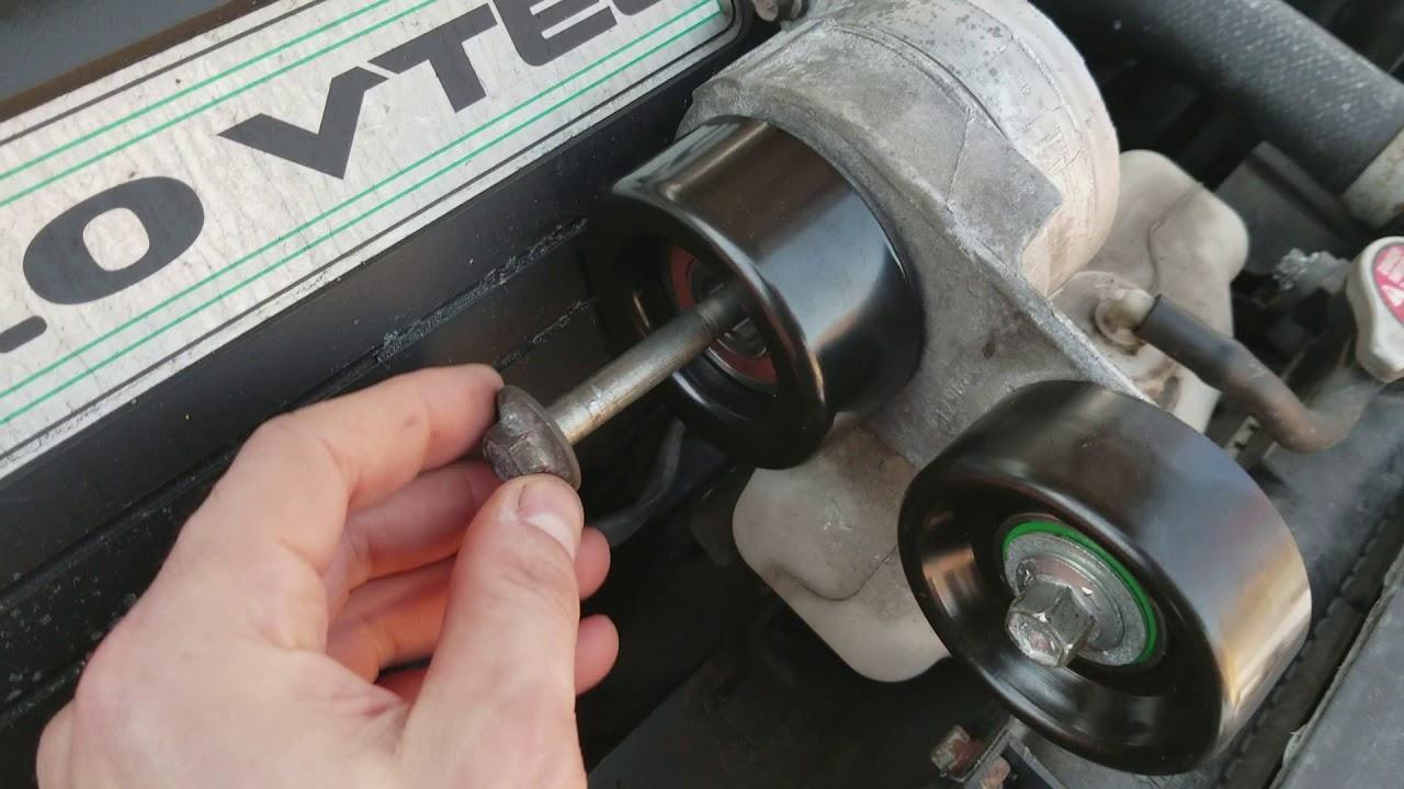 hight resolution of 2003 2007 honda accord v6 tensioner idler pulley install tips lh thread