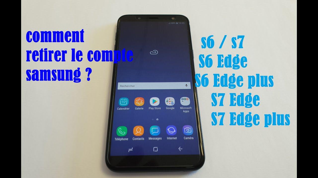 Calendrier Samsung S7.Comment Retirer Le Compte Samsung Sur Votre Mobile S6 S6 Edge S7 S7 Edge Et Autres