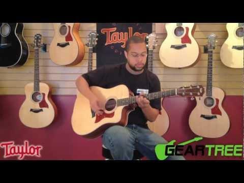 Taylor 210CE-G Dreadnought Acoustic Electric Guitar Demo