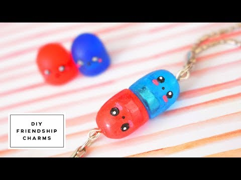 [DIY] Magnetic Pill Friendship Charms