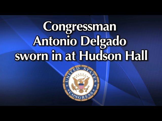 Congressman Antonio Delgado Swearing in Ceremony in Hudson