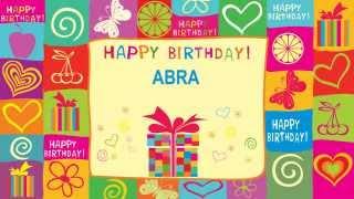 AbraEnglish pronunciation   Card Tarjeta5 - Happy Birthday