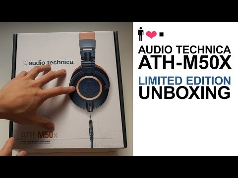 Audio Technica ATH-M50X Limited Edition Blue Version Unboxing