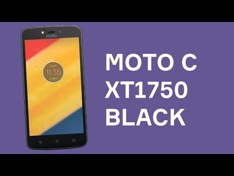 Распаковка Moto C XT1750 Black