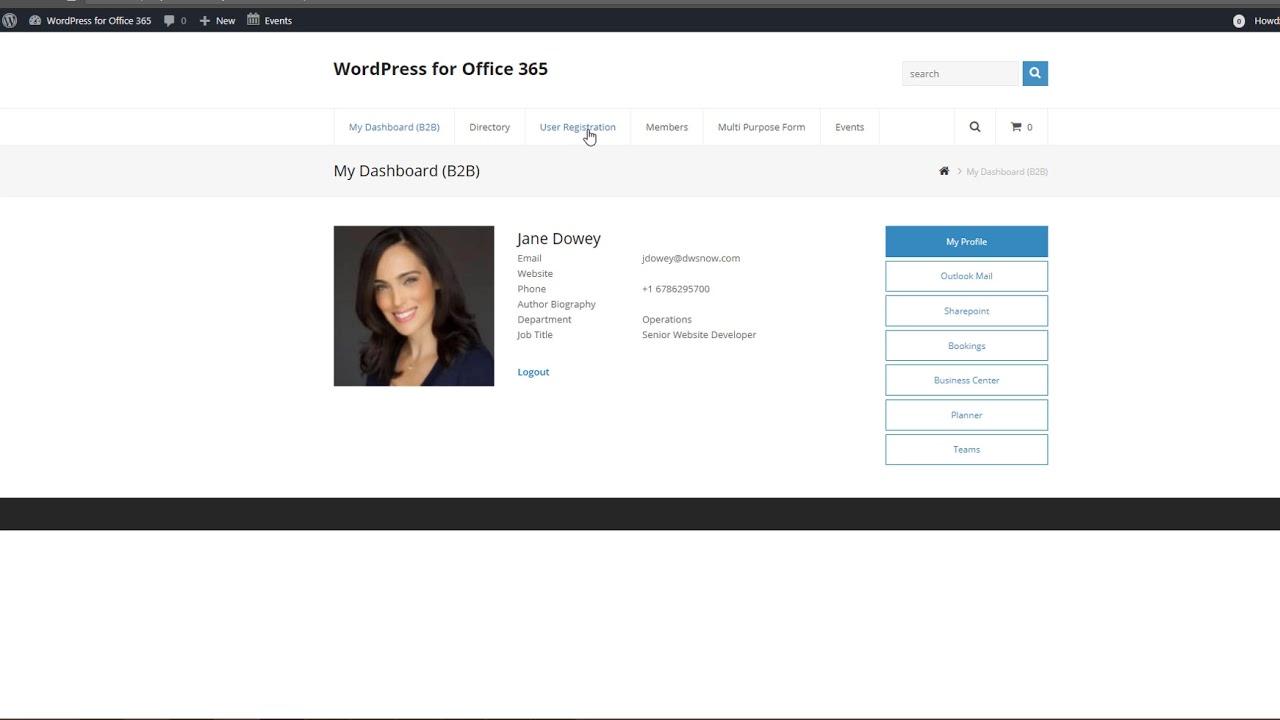 Office 365 User Authentication for WordPress – WordPress