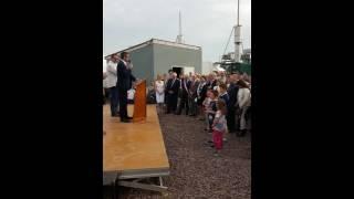 inauguration d'une unité de production d'électricité et de spiruline le 10 juin 2016 à  valhuon