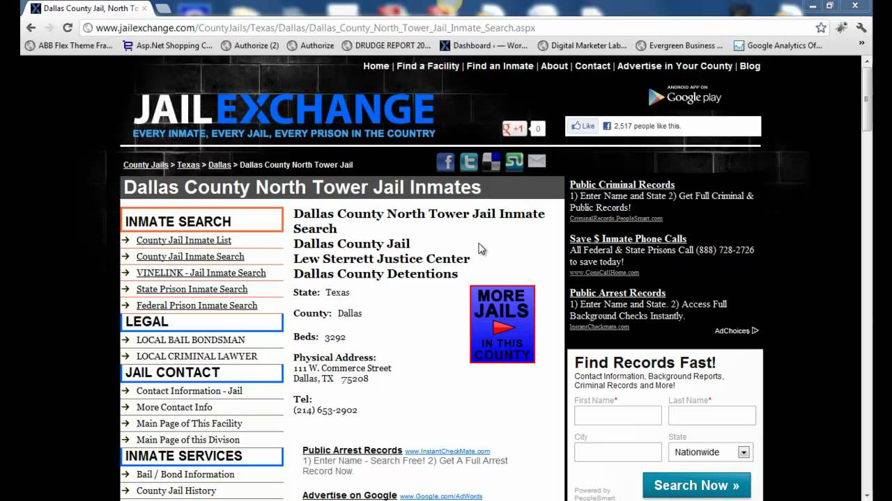 Dallas County Online Jail Search