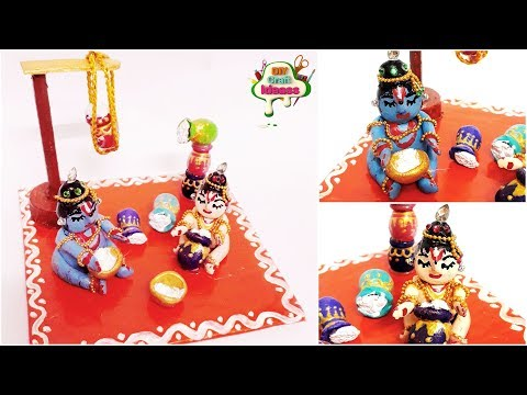 Krishna Making | Kirshna balaram cute craft | Creative Craft | Newspaper Doll