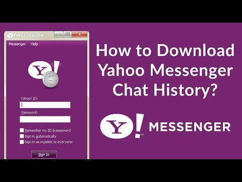 How To Download Yahoo Messenger Chat History Or Conversation History