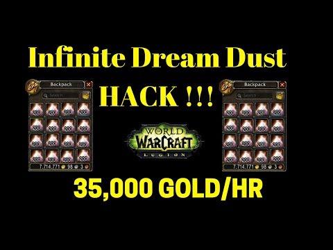 Warcraft Legion Infinite Dream Dust Hack 35,000+ GOLD/Hr!!!!