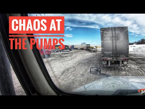 My Trucking Life | CHAOS AT THE PUMPS | #1655