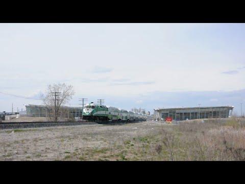 GO Trains through Downsview Park (2016)