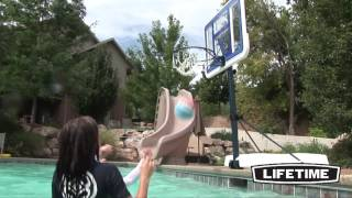 "Lifetime 44"" Portable Poolside Basketball Hoop  (1306)"