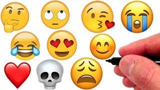 Artist Draws the 10 Most Popular Emojis