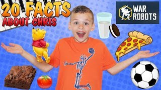 20 Facts About Me || Chris Family Fun Pack