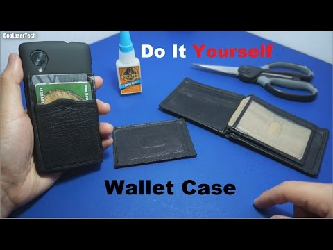 Do It Yourself Phone Wallet Case #DIY