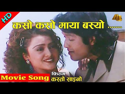 Kaso Kaso Maya Basew | Kasto Saino Movie Song | Rekha Thapa | AB Pictures Farm | B.G Dali