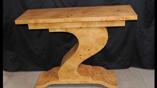 Art Deco Z Walnut Console Table Interior Design Antiques